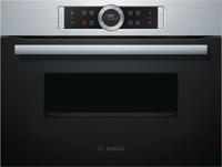 Bosch Serie 8 CMG633BS1B Built In Compact Electric Single Oven with Microwave Function - Stainless Steel
