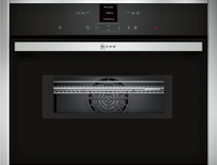 NEFF N70 C17MR02N0B Built In Compact Electric Single Oven with Microwave Function - Stainless Steel