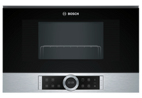 Bosch Serie 8 BEL634GS1B 21 Litre Built In Microwave with Grill - Stainless Steel
