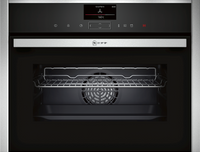 NEFF N90 C17FS32H0B Wifi Connected Built In Compact Electric Single Oven with Steam Function - Stainless Steel
