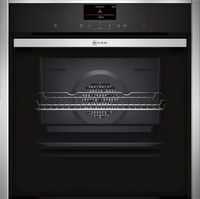 NEFF N90 Slide&Hide B57CS24H0B Wifi Connected Built In Electric Single Oven - Stainless Steel