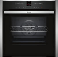 NEFF N70 Slide&Hide B57VR22N0B Built In Electric Single Oven with Steam Function - Stainless Steel