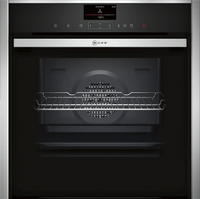 NEFF N90 Slide&Hide B47VS34H0B Wifi Connected Built In Electric Single Oven with Steam Function - Stainless Steel