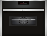 NEFF N90 C28MT27H0B Wifi Connected Built In Compact Electric Single Oven with Microwave Function - Stainless Steel