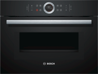 Bosch Serie 8 CMG633BB1B Built In Compact Electric Single Oven with Microwave Function - Black