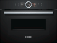 Bosch Serie 8 CMG656BB6B Wifi Connected Built In Compact Electric Single Oven with Microwave Function - Black