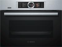 Bosch Serie 8 CSG656BS7B Wifi Connected Built In Compact Electric Single Oven with Steam Function - Stainless Steel