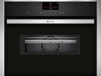 NEFF N90 C17MS32H0B Wifi Connected Built In Compact Electric Single Oven with Microwave Function - Stainless Steel