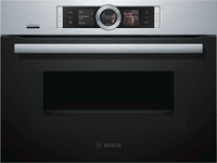 Bosch Serie 8 CMG656BS6B Wifi Connected Built In Compact Electric Single Oven with Microwave Function - Stainless Steel