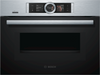 Bosch Serie 8 CMG676BS6B Wifi Connected Built In Compact Electric Single Oven with Microwave Function - Stainless Steel