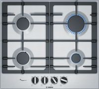 Bosch Serie 4 PCP6A5B90 58cm Gas Hob - Stainless Steel
