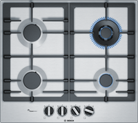 Bosch Serie 6 PCH6A5B90 58cm Gas Hob - Stainless Steel