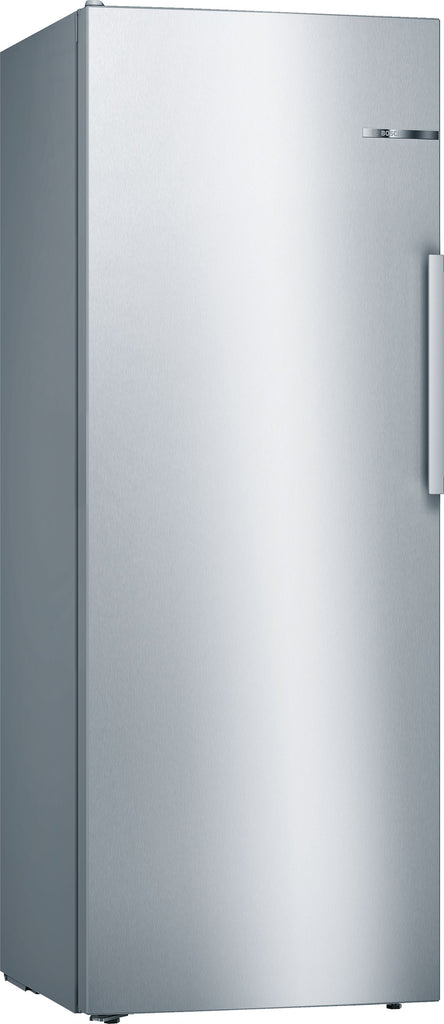 Bosch Serie 4 KSV29VLEP 60cm Wide Tall Larder Fridge - Stainless Steel Effect - A++ Rated