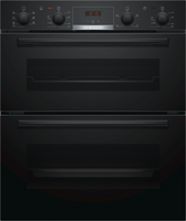 Bosch Serie 4 NBS533BB0B Built Under Electric Double Oven - Black
