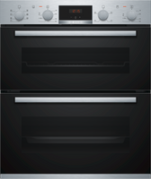 Bosch Serie 4 NBS533BS0B Built Under Electric Double Oven - Stainless Steel