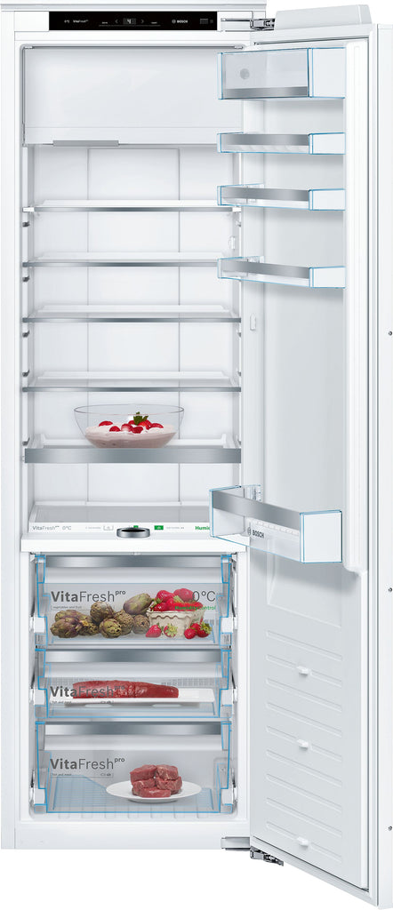 Bosch Serie 8 KIF82PFF0 56cm Integrated Upright Fridge with Ice Box - Fixed Door Fixing Kit - White - A++ Rated