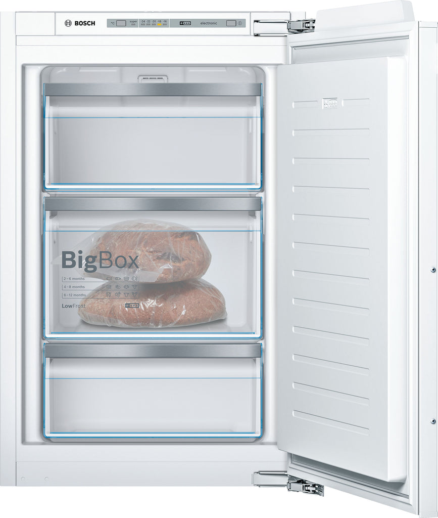 Bosch Serie 6 GIV21AFE0 56cm Integrated Upright Freezer - Fixed Door Fixing Kit - White - A+ Rated