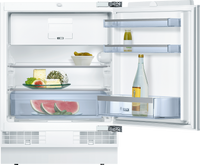 Bosch Serie 6 KUL15AFF0G 60cm Integrated Undercounter Fridge with Ice Box - Fixed Door Fixing Kit - White - A++ Rated