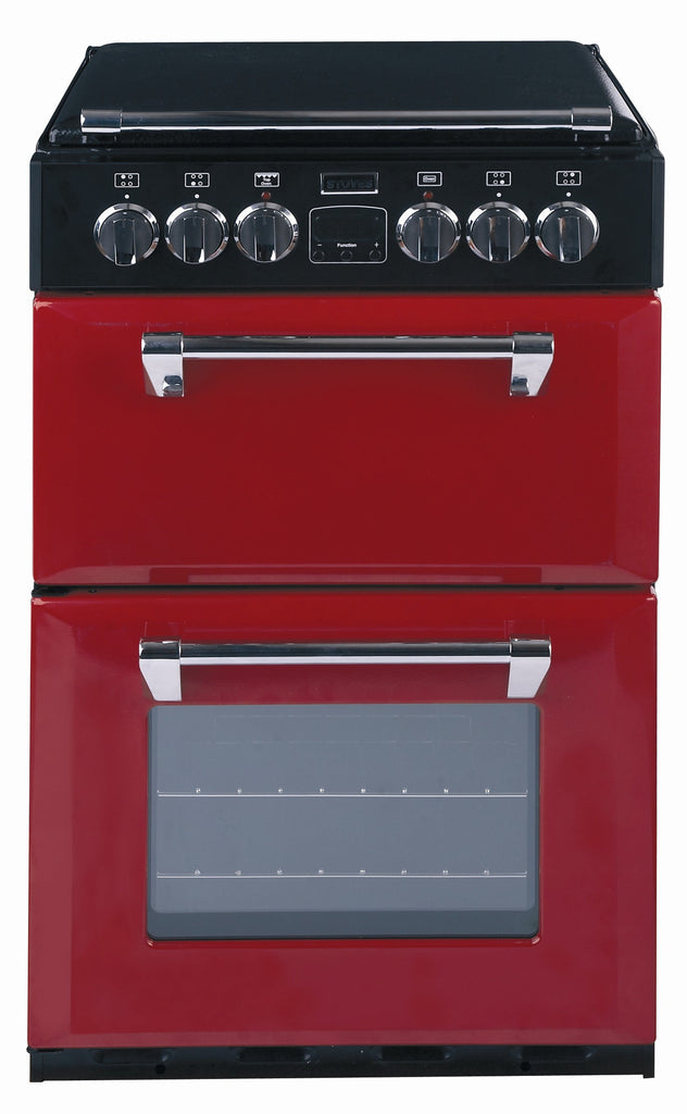 Stoves Richmond 550E Electric Ceramic Hob Double Oven Cooker 550mm Wide Hot Jalapeno - Moores Appliances Ltd.