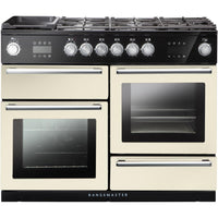Rangemaster Nexus Steam NEX110SODFFIV/C 110cm Dual Fuel Range Cooker - Ivory/Chrome Trim
