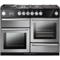 Rangemaster Nexus Steam NEX110SODFFSS/C 110cm Dual Fuel Range Cooker - Stainless Steel/Chrome Trim
