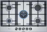 Bosch Serie 6 PCQ7A5B90 75cm Gas Hob - Stainless Steel
