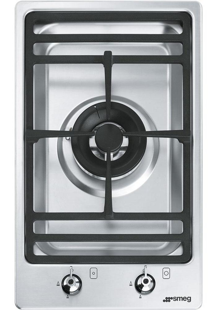 Smeg Classic PGF31G-1 31cm Gas Hob - Stainless Steel