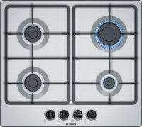 Bosch Serie 4 PGP6B5B60 58cm Gas Hob - Stainless Steel