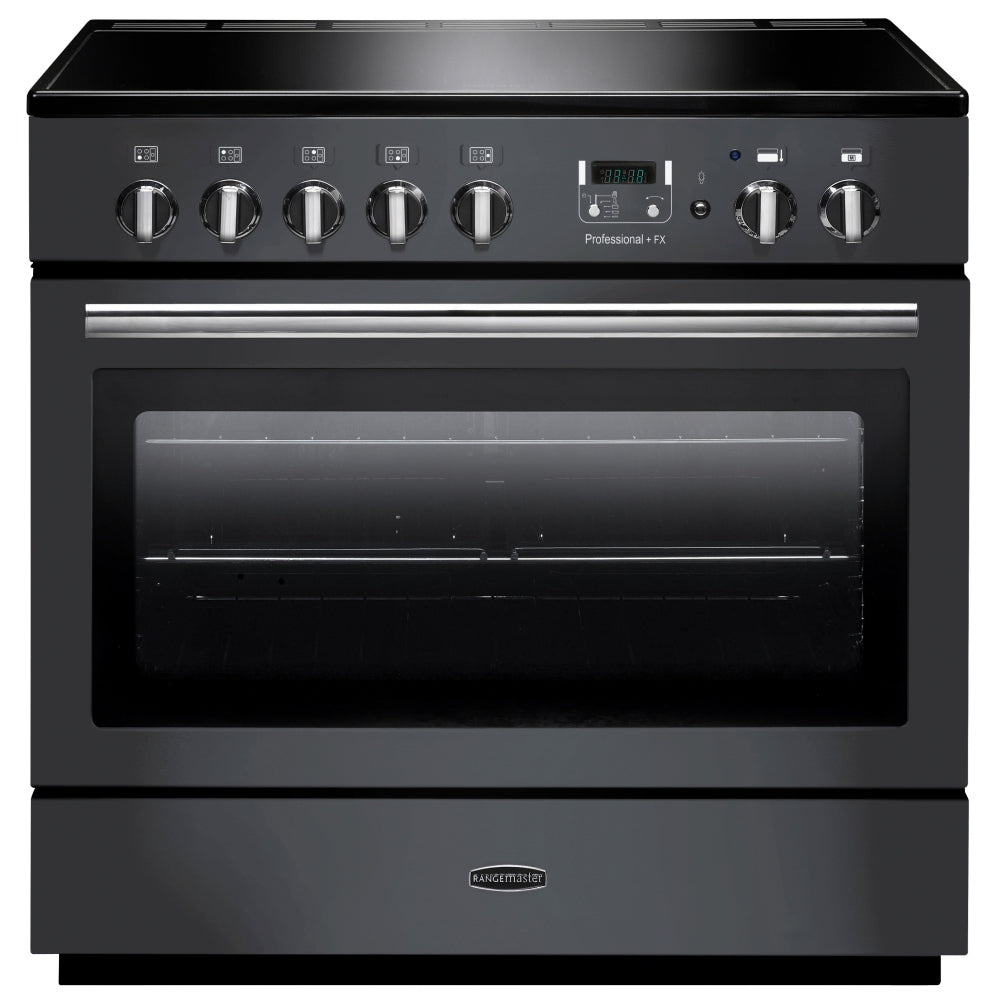 Rangemaster Professional Plus FX PROP90FXEISL/C 90cm Electric Range Cooker with Induction Hob - Slate/Chrome Trim