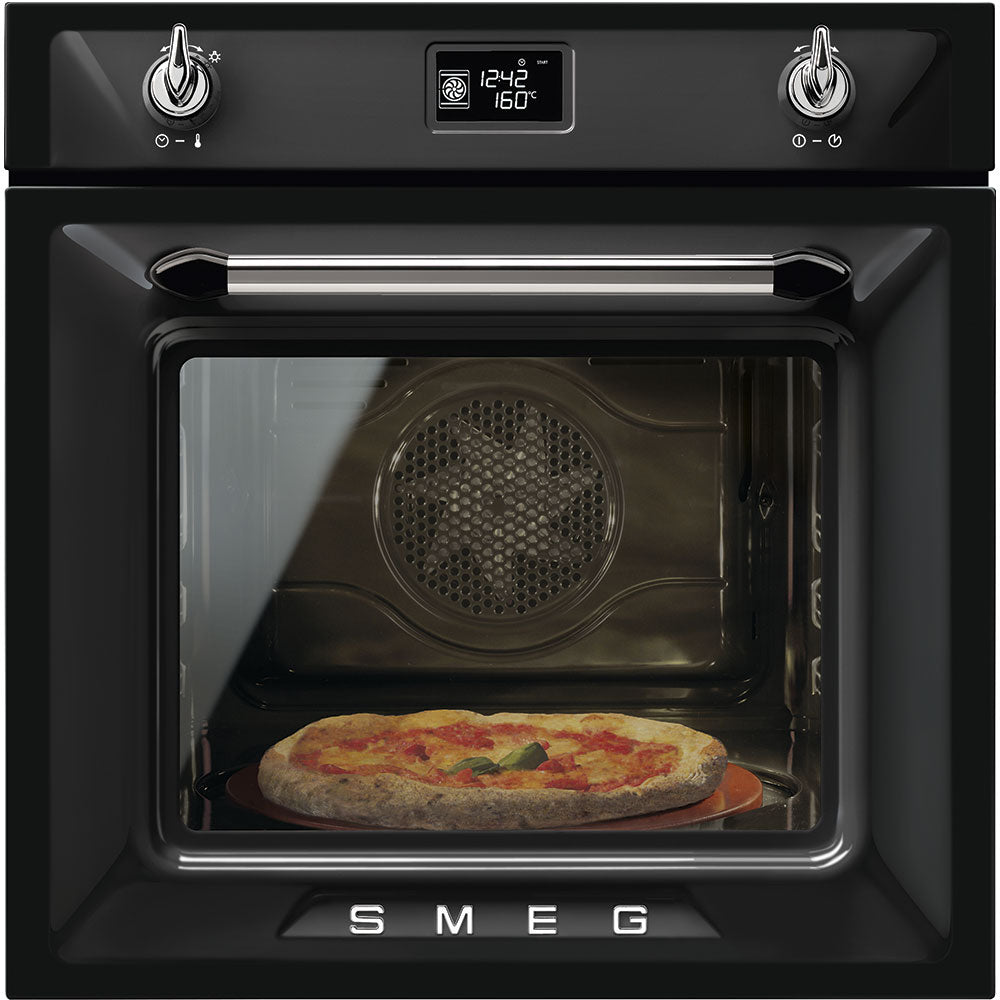 Smeg Victoria SFP6925NPZE1 Built In Electric Single Oven - Black