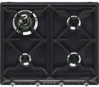 Smeg Victoria Gas Hob SR964NGH Black 595mm Wide