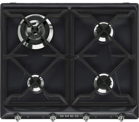 Smeg SR964NGH Gas Hob Black
