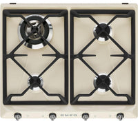 Smeg Victoria Gas Hob SR964PGH Cream 595mm Wide