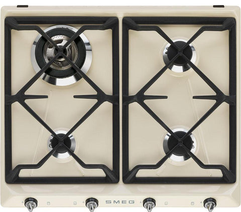 Smeg SR964PGH Gas Hob Cream