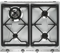 Smeg Gas Hob SR964XGH Stainless Steel 595mm Wide