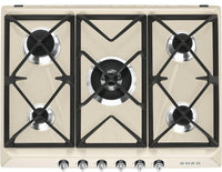 Smeg Victoria Gas Hob SR975PGH Cream 685mm Wide