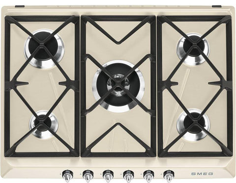 Smeg SR975PGH Gas Hob Cream