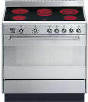 Smeg Concert SUK91CMX9 90cm Electric Range Cooker with Ceramic Hob - Stainless Steel