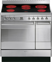 Smeg Concert SUK92CMX9 90cm Electric Range Cooker with Ceramic Hob - Stainless Steel