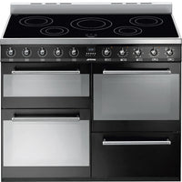 Smeg Range Cooker Symphony SYD4110IBL Electric Induction Black 110cm Wide