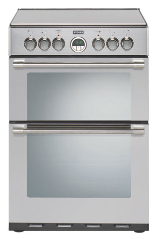 Stoves Sterling 600E Electric Ceramic Hob Double Oven Cooker Stainless Steel
