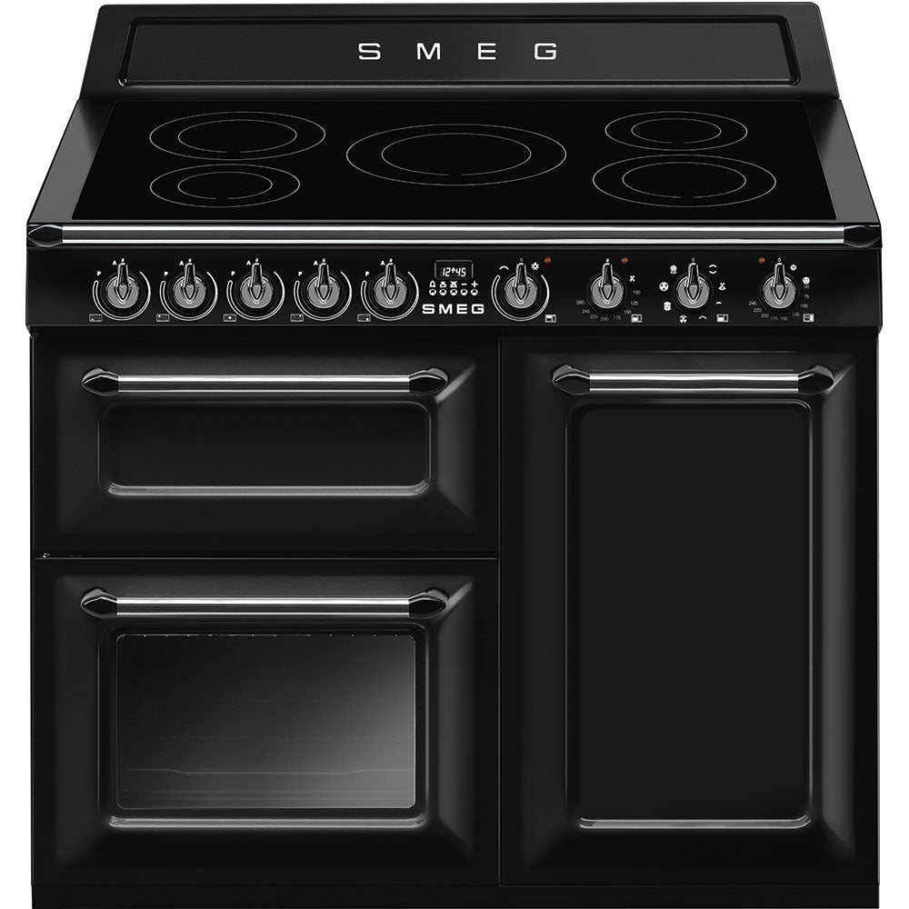 Smeg Victoria TR103IBL 100cm Electric Range Cooker with Induction Hob - Black