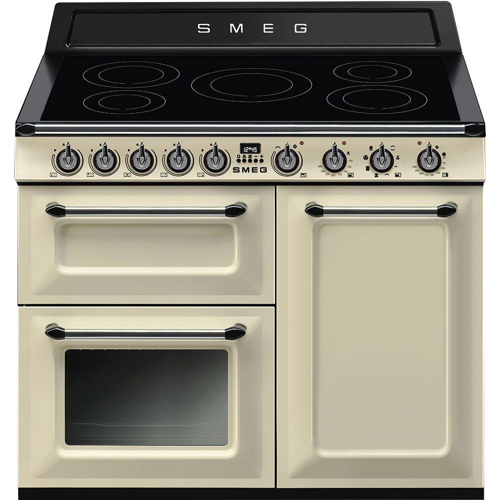 Smeg Victoria TR103IP 100cm Electric Range Cooker with Induction Hob - Cream