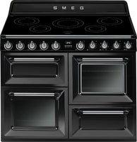 Smeg Victoria TR4110IBL 110cm Electric Range Cooker with Induction Hob - Black
