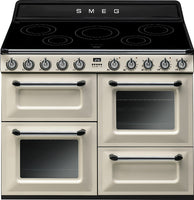Smeg Victoria TR4110IP 110cm Electric Range Cooker with Induction Hob - Cream