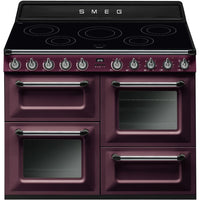 Smeg Victoria TR4110IRW Smeg Victoria 110cm Electric Range Cooker with Induction Hob - Red Wine