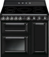 Smeg Victoria TR93IBL 90cm Electric Range Cooker with Induction Hob - Black