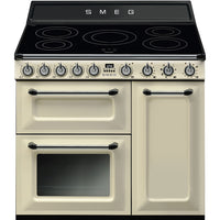 Smeg Range Cooker Victoria TR93IP Electric Induction Cream 90cm Wide