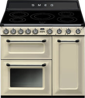 Smeg Victoria TR93IP 90cm Electric Range Cooker with Induction Hob - Cream