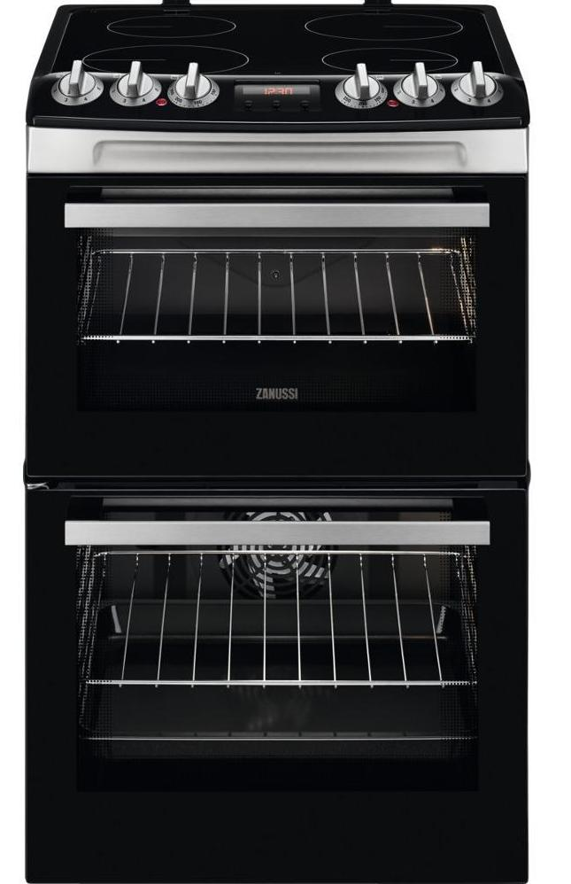 Zanussi ZCV46250XA 55cm Electric Cooker with Ceramic Hob - Stainless Steel